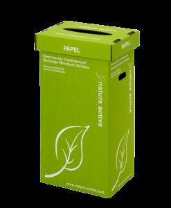 Contenedor de cartón para reciclar papel en oficinas en Barcelona